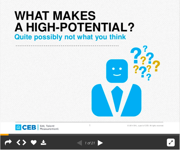 What makes a high potential?