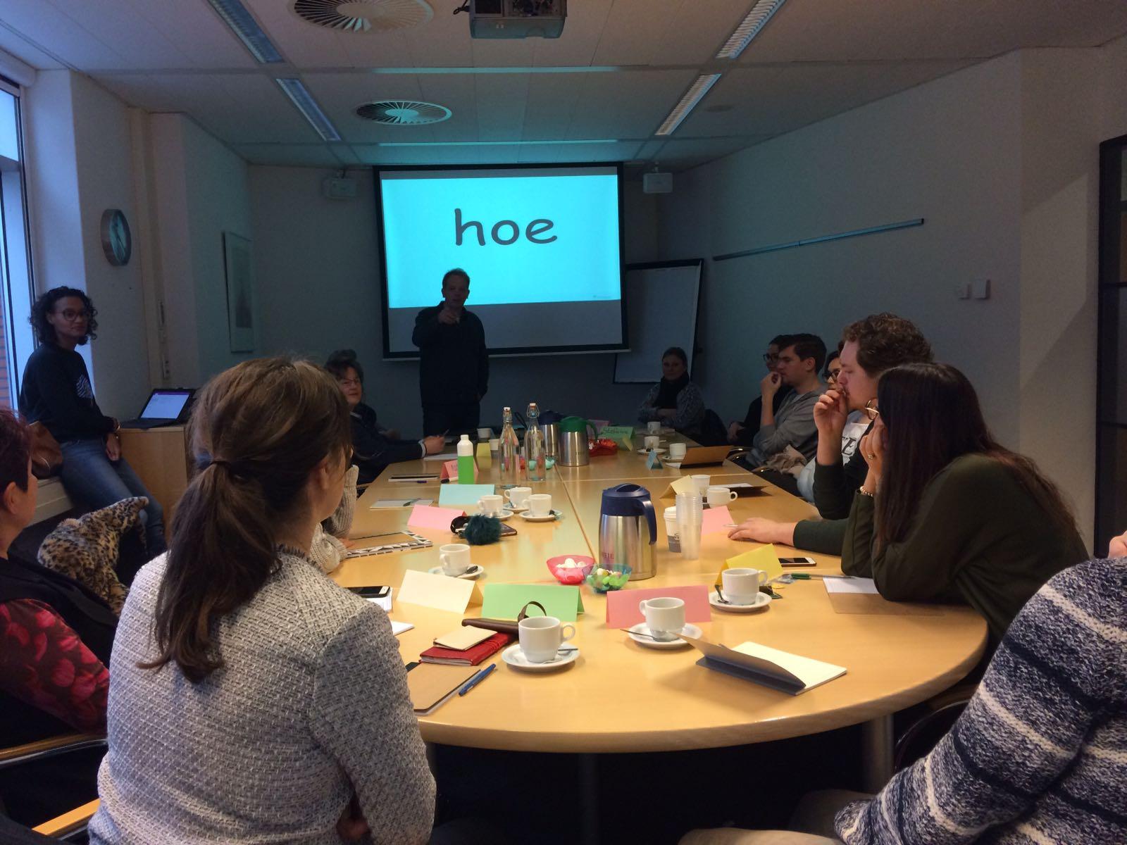 Kiekje van workshop bij SVB Utrecht